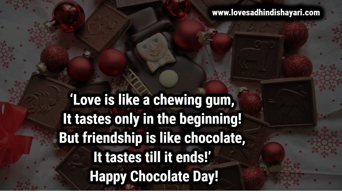 chocolate day shayari in hindi